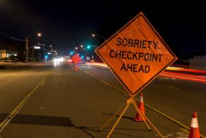 sobriety checkpoint sign on highway